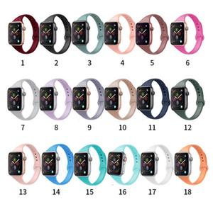 Apple Voir 6 5 4 1 2 3 SE silicone mince bande 40 / 44mm 38 / 42mm watchband