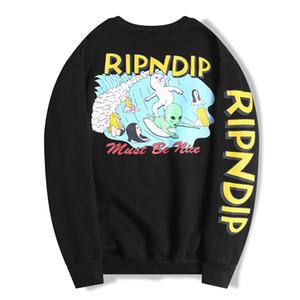2020 RIPDIP Tişörtü Hoodies Sweatshirt erkek Çift erkekler Üst Katı Renk Coats Kapşonlu Triko Ceket Moda Hip Hop Uzun kılıfı womens