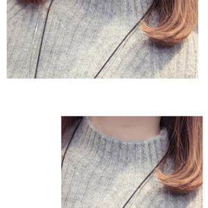 IOQRCJV camisola de gola alta vestido Mulheres Moda Outono Inverno malha capuz Camisolas Long Sleeve Jumper Pull Femme S184 200928