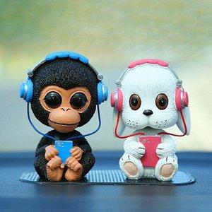 Painel do carro Brinquedos Música Dog Nodding Shaking Presentes Chefe Bobblehead Dolls bonito da Cabeça Wobble Acessório Interior Decor Car Ornamentos vblU #