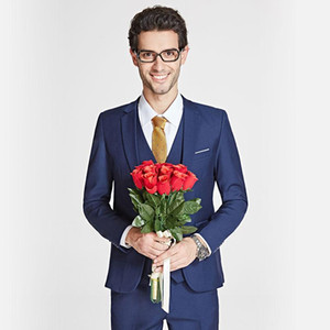 2020 New Arrival mens suit Business Blazer Casual Slim Fit Three-piece Groom Wedding Suits for men High Quality Men's Blazers