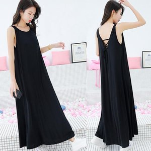 Basic Ladies New Summer Pregnant Sexy Long Sleeveles Solid Nighty Sleepshirt Sleepwear Nightgown Loose Lingerie Modal Nightdress Pngii