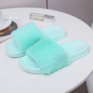 Zevs Sexy Winter-Kristall-Band-Pelz-Fersen Öffnen Sie Finger-Sandalen hoch dicke Einfachheit SchuheWomen Slipper Slipper