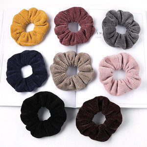 Fashion Hair Scrunchies Bobble Solid Color Sports Elastic Dance Headband Rope Women Hair Band Ring Soft Scrunchie Ponytail M2973