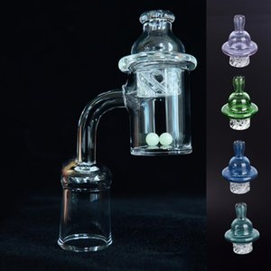 Thick Quartz Banger Nail with Spinning Bubble Carb Cap and Glow In The Dark Terp Pearl 10mm 14mm 18mm For dab oil rig bong