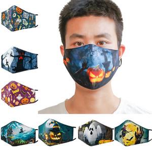 Natale 3D caldo cotone stampato maschera adulti inverno e fashion design antipolvere maschere maschera traspirante e lavabile con filtro