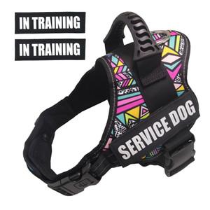 PET-K9 Dog Harness, Service Dog Vest No-Pull Reflective Breathable Adjustable Pet Vest Harness for Outdoor Walk Training 1020