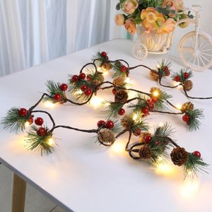 NEW Christmas Pine Needles Colorful Light Pine Cone Upgrade Style String Lamp Length: 2m