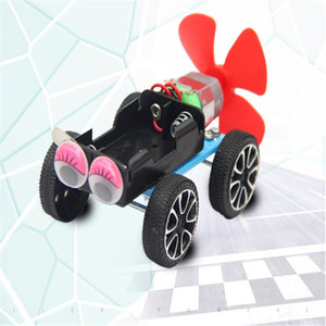 Free shipping technology propeller-powered car scientific experiment invention combination with battery educational science and education ch