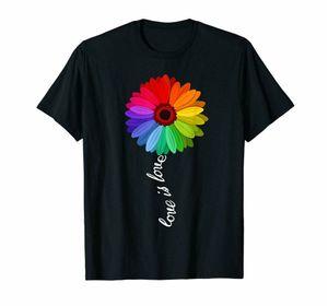 Black Love Is Love Love Daisy Lgb Homosexuell 100% Baumwolle Maß Hoodie Designer-T-Shirts Sweatshirt