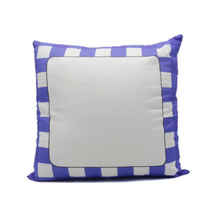 10pcs Sublimation Pillow Case Blank white Graid Decoration Polyester heat transfer Square for best gift