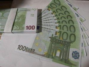 03 Sınır ötesi sihirli 100 Euro ise 100 sayfa simülasyon Euro para sprey tabancası Euro oyun sihirli çubuk sahne demetidir sahne