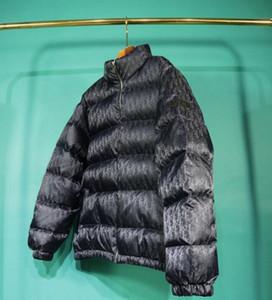 el otoño y el invierno 20FW Francés última versátil tapas de la manera abajo de la chaqueta para hombre superior llenos abrigos de invierno carta chaqueta de invierno de los hombres de alta calidad