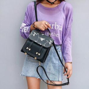 Fashion School Backpack Teenage Girls High Quality Leather Women Shoulder Bag Backpack Floral Embroidery Design Rucksack