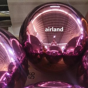 schöne rosa und goldene aufblasbare Spiegelkugel zum Verkauf, aufblasbare reflektierende Ballon Bälle für die Zeremonie und die Förderung Dekoration