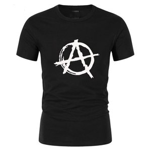 sport Summer Style Men Brand Anarchy Symbol T Shirt - Punk Rock T Shirt Bedlam Evil Anarchist War Rocker Casual mens Tops