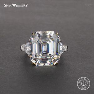 Shipei Asscher Cut cubic zirconia Ring White Gold for Women Men 100% 925 Sterling Silver cubic zirconia Ring Engagement Wedding Coctail1
