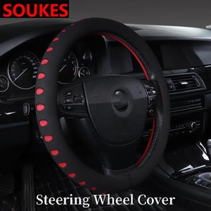 Interior Car Anti Slip Steering Wheel Cover Cushion For Solaris Tucson 2020 I30 IX35 Accent Santa Fe C4 C5 C3 C2