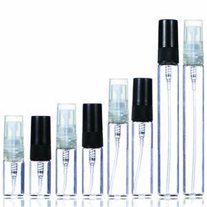 2 ml 3 ml 5 ml 10 ml Plastik / Cam Parfüm Şişesi, Boş Disaatılabilir Sprey Şişesi, Küçük Parfüm Atomizer, Parfüm Örnek Flakon HWC3488