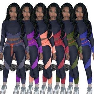 Designers Women Tracksuit Matching Printed Long Sleeve Tops Shirts +Leggings Pants Two Piece Suit Clothing Casual Outfits Sets S-2XL F92906