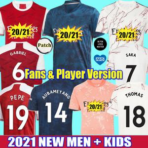 2020 2021 arsenal maillots de football THOMAS Gabriel WILLIAN pepe Saka nicolas ceballos henry 20 21 guendouzi tierney sokratis AUBAMEYANG OZIL LACAZETTE niles hommes enfants