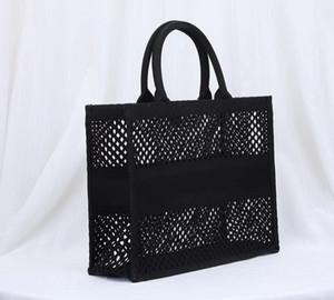 Yeni Moda Siyah Örgü Nakış Tote Çantalar Çanta En Kaliteli Dubleks Baskı Farklı Stil Alışveriş Tote Lady Orijinal Omuz Çantaları