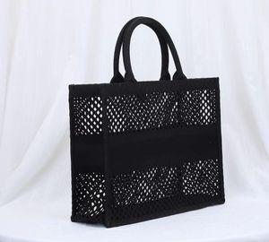 Malha Impressão Preto Compras Bordado Bordado Novos Sacos Ombro Top Handbags Duplex Moda Diferente Qualidade Qualidade Sacos Original TOTE L FLCS