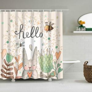 Sweet Life Lovely Cartoon Doccia Shower Tenda Modello Wash Bagno Doccia Impermeabile Decorazione muffa Arredamento Cortina de Bano180x200 Grande
