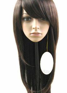Fashion Women's long Brown Straight Hair Human Hair Women's Wigs