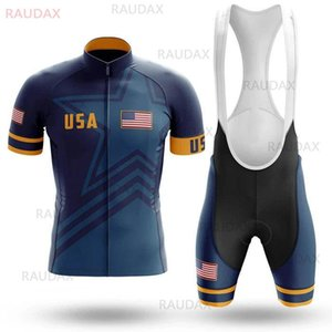 USA Cycling Clothing 2020 Summer Men's Pro Bicycle Team Cycling Jersey Set Ropa De Ciclismo MTB Bike Uniform