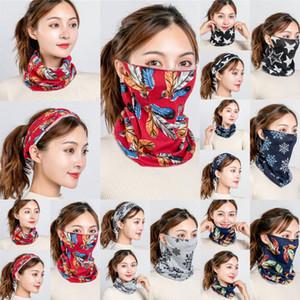 Unisex Neck Multifunctional Mounting Ear Headband Breathable Face Cover Bandanas Cashmere Scarves Female Shawl Red
