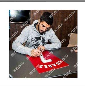 Luis Suarez signatured İmzalı Jersey gömlek İmzalı kırmızı