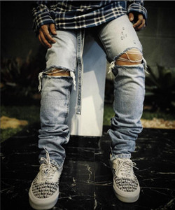 2020 new Best Version FOG jean Men Fear Of God Essentials Zipper Broken hole Pants Skinny Jeans Blue Jean Ribbon jeans and womens jeans