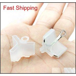 100 Pcs lot White Plastic Treble Fishing Hooks Sleeve Size 1#-5# Protective Fishhooks Good Fishing Hook F qylBam alice_bag