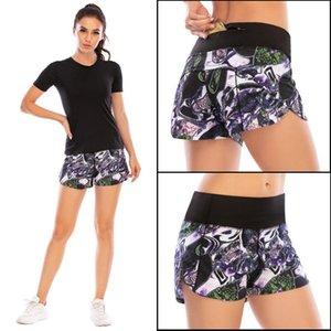 De secado rápido aptitud protección contra la intemperie revestimiento Operando Formación de la cremallera de fitness Yoga Pantalones cortos Mujer Australia Fuerza 12004 Deportes