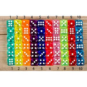 Dice Set 10 cores de alta qualidade 6 Sided gambing Dados por Board Clube festa de família Jogos Dungeons e Dragon Dice