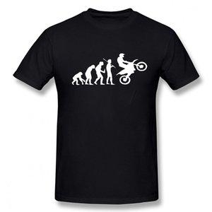 DIRTBIKE Evolution Motocross Hommes T-shirt Summer Casual Mode T-shirt Coton T-shirts à manches courtes de haute qualité