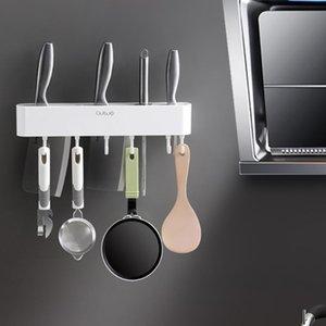 Высококачественный настенный нож с крючком Стеллаж для хранения кухни для хранения кухни аксессуары для домашнего кухня блокируйте пластиковый держатель инструмента