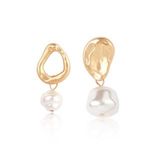 BOHEMIAN MIX DESIGNS IRREGOLARI Orecchini pendenti perla per le donne Brincos Geometrico Goccia Goccia Orecchino da sposa gioielli gioielli madri regalo 336 J2