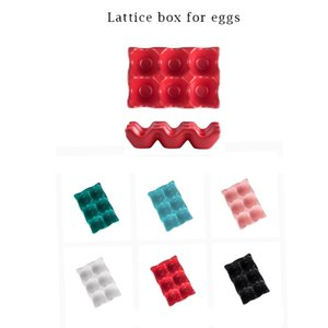 Egg grid egg rack kitchen supplies household ceramic storage compartment egg container dispenser tray
