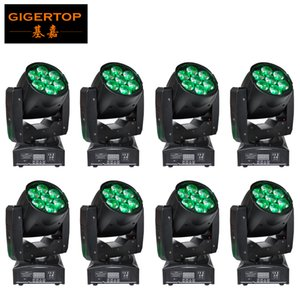 Discount Price 8 Units 7x12w Mini led moving head zoom light Tyanshine Zoom Beam Angle 6-60 Degree Change Mini Zoom Stage Lighting