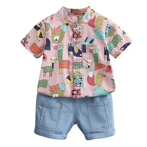 Summer Children's clothing suit for Boys sets Kids Short-sleeve Animal T-shirt + Short Pants Two-piece baby set23 201126