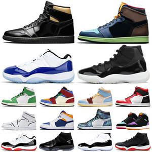 air jordan retro 1 11 aj1 aj11 jumpman Basketbol ayakkabı 11 s Yetiştirilen Kap ve Elbisesi Concord 1 s UNC Obsidian Birliği kadın erkek eğitmenler spor sneakers