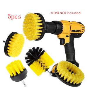 5Pcs Electric Scrubber Kit for Bathroom Drill Brush Wireless Connection Kit Electric Toilet Brush Electric Cleaning Brush