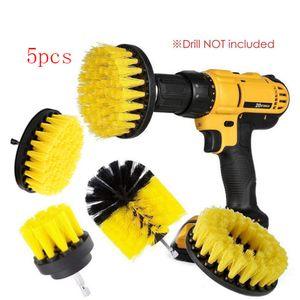 5Pcs Kit elettrico Scrubber per Bagno Drill connessione wireless Brush Kit elettrico Scopino elettrico Spazzola di pulizia