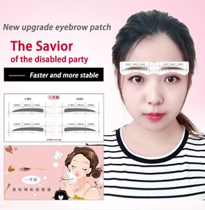24 Pairs Professional Eyebrow Template Card Eyebrow Sticker Perfect Eyebrow Draw Tool