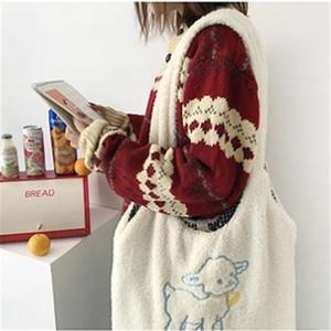 Женская баранка как ткань сумка простая холст сумка сумка большая емкость вышивка для вышивки сумка милая книга для девочек