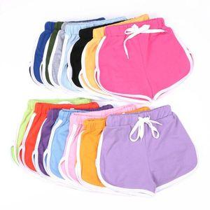 Pantalones Shorts niños del bebé del verano con cordón casual Pantalones cortos niñas caramelo rayado de seguridad anti-fugas Pantalones Pantalones Otros Inicio GardenOWB479