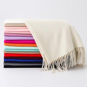 Women Winter Scarf 2020 Cashmere-like Scarves Thick Neck Warm Headband Hijab Lady shawls Wraps Blanket Female Echarpe