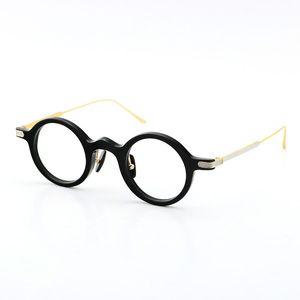 2020 di nuovo trasporto libero originale corno di bufalo Eyewear circolare occhiali in titanio Accessori di Eyewear dell'annata rotonda vetri unisex limitata